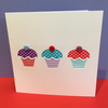 Birthday Cupcakes Birthday Card - Paper Cut Card
