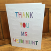Large Personalised Teachers Thank You Card