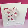 Personalised Birthday Card - Paper Cut Orchids