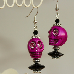 Halloween Skull Earrings