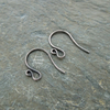Handmade antique copper swan ear wires, findings, earwires, make your own