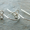 Sterling silver trefoil ear wires, clover leaf, 3 pairs, made to order, DIY