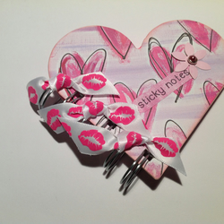 Heart Shaped Sticky Note Holder Post It notes Spiral Bound Refillable