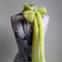 OOAK Grace Scarf - Lime