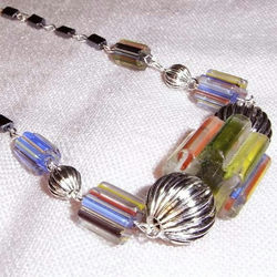 Cane Glass Necklace  (ne073)