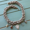 Hemp Necklace - shells quartz and sea glass beach boho necklace
