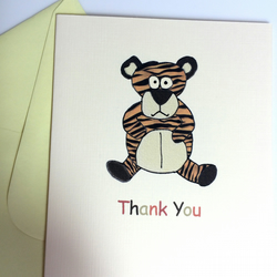 Pack of 6 Tiger Thank you Cards
