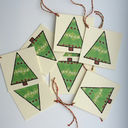 Christmas Tree Gift Tags - Pack of 8