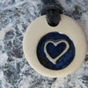 Friendship Blue Heart Ceramic Necklace