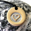 Friendship Silver Heart Ceramic Necklace