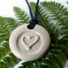 White Heart Ceramic Necklace