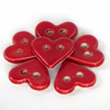 Small Ceramic Stoneware Red Heart Button 25mm across widest part