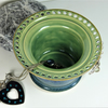 Green and Blue Ceramic Jewellery Bowl to display earrings, bracelets, bangles.
