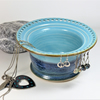 Blue and BlueGreen Ceramic Jewellery Bowl to display earrings, bracelets.