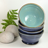 Summer Blue Smooth Breakfast Soup Salad Olive Tapas Bowl Ceramic Stoneware