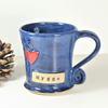 Hygge - Blue  Mug - Ceramic Stoneware Pottery UK Gift Gifts Mugs Tea Coffee