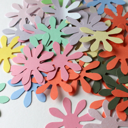 Large Daisy Shapes 100pk assorted colours