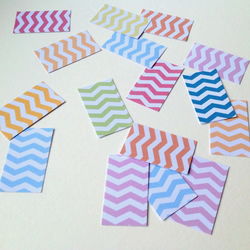 Card Shapes For Craft,Rectangles, In  Assorted Colours Chevron Print,100pk