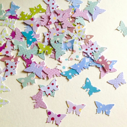 Card Small Butterfly Shapes, Dots & Spots Printed Card, 100 pack Various Colours