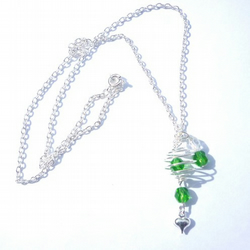 caged pendant - choice of colours