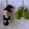 Warty Witch and Toad Earrings