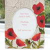 Poppy photo frame