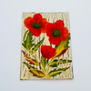 ACEO acrylic painting poppies 014