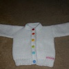 White baby cardigan 3-6months