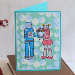 Robot Love Card