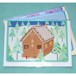 Gingerbread Forest Christmas Card