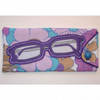 Vintage Fabric Glasses Case (purple)