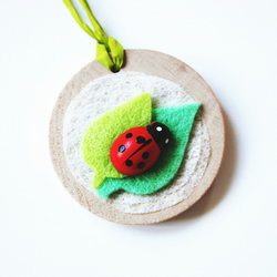 SALE Ladybird Wooden Gift Tag