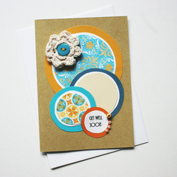 SALE Get Well Card Crochet Flower