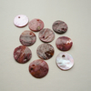 10 Dusky Pink Round Shell Discs