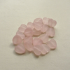 20  Pale Pink Frosted Resin Heart Beads