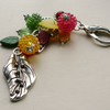 Handbag Charm Red Yellow Green Leaf and Berry Themed   KCJ1608