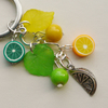 Keyring Yellow and Green Mixed Bead Lemon and Lime Themed    KCJ1635