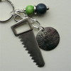 If Dad Can't Fix It No-One Can Navy Blue and Green Tool Saw Keyring  KCJ1950