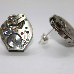 Watch Movemement Stud Earrings