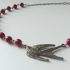Cherry swallow necklace