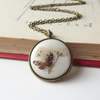 Meadow butterfly necklace with real flowers - jewellery by The Autumn Orchard