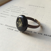 Cow parsley ring - onyx