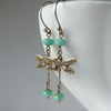 Dragonfly earrings - opaque turquoise