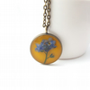 Real flower jewellery - little forget me not necklace - perfect leaving present!