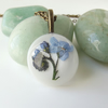 Forget me not real flower necklace in white - great leaving present!