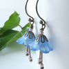 Lilac bluebell earrings