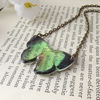 Butterfly necklace in green - unique handmade jewellery gifts