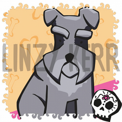 Schnauzer dog illustration - digital art print