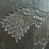 Hand Carved Slate -Stark Wall Hanging - Game of Thrones - MORE DESIGNS AVAILABLE