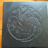 GAME OF THRONES Targaryen Dragon Tile Wall hanging - Hand Carved Slate